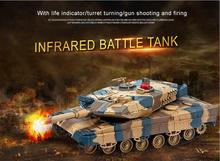 2016 new RC Tank for Kid  Play rc toy HQ-516 RC battle tank charging move Infrared Fighting Remote Control Tank vs KT002-4 tank