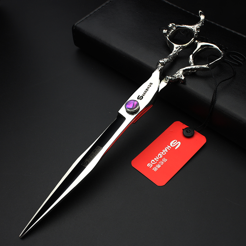 7 inch / 8 inch Japan hair scissors purple gem dragon scissors hair salon high quality barber scissors made of 440c steel