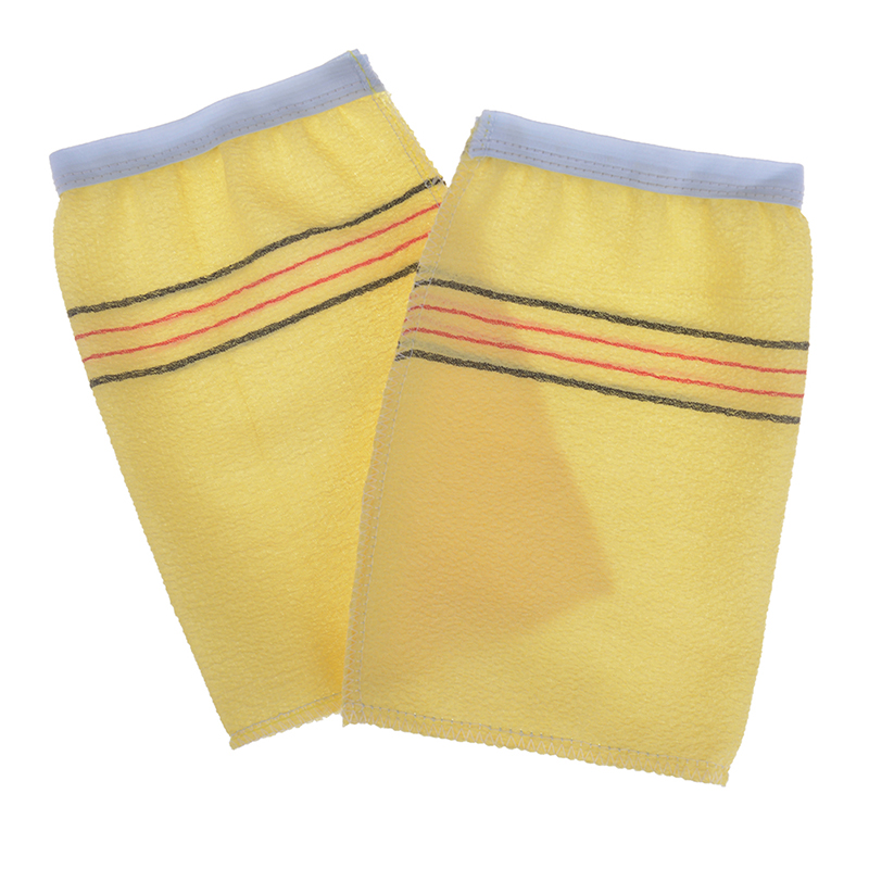 2Pcs/Set Shower Spa Exfoliator Two-sided Disposable Bath Glove Dead Skin Removal Bathroom Products Body Cleaning Scrub Mitt Rub