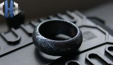 EDC Custom-made Titanium Horse Gravel Pattern Ring Titanium Alloy Damascus Meteorite Percussion Tactical Ring