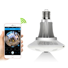 ZILNK Panoramic 360 Degree Bulb Light IP Camera Wireless Wifi FishEye Lens 1080P HD Lamp Camera Indoor Home Security
