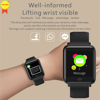 Relogio 스마트 시계 심장 박동 혈압 모니터 시계 방수 스포츠 피트니스 트래커 ios 안드로이드에 대한 스마트 손목 시계