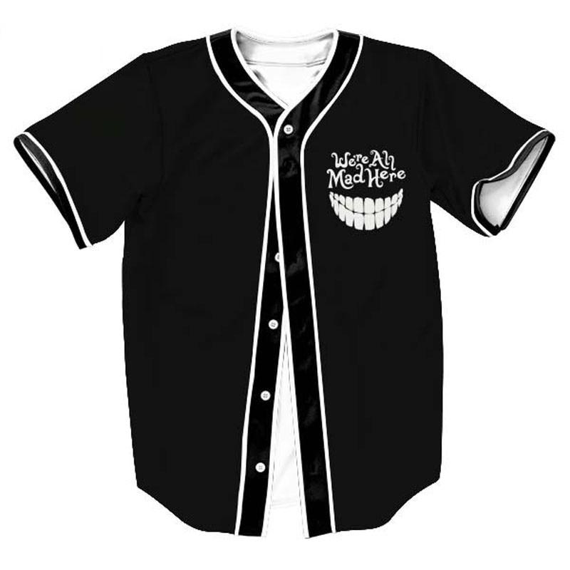 2018 3D T Shirts Casual Short Sleeve Baseball Jersey Funny Print Baseball Shirt Mens Harajuku Hip Hop Tee Shirt Homme edith piaf edith piaf a l olympia 1962