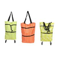 Foldable Shopping Trolley Bags Rolling Wheels Storage Grocery Cart Reusable Shopper Bags Items Gear Stuff Accessories