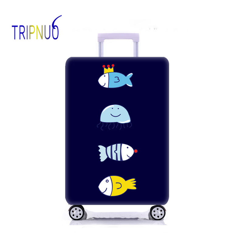 TRIPNUO Elastic Fabric Fish Luggage Protective Cover, Suitable18-32 Inch ,Trolley Case Suitcase Cover,Travel Accessories