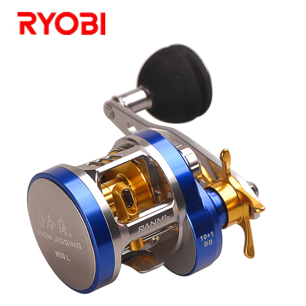Smart Slow Jigging Reel 10+1BB 6.8:1 Bait Casting Fishing Reel Left or Right Hand EVA Handle Lure Fishing Reel for Saltwater цена