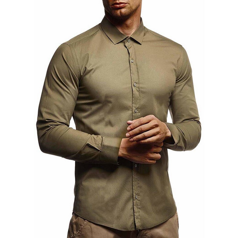 SHUJIN Mens shirts Camisa Masculina Long Sleeve Shirt Men Korean Slim Fit Design Formal Casual Male Dress Shirt Size M-3XL
