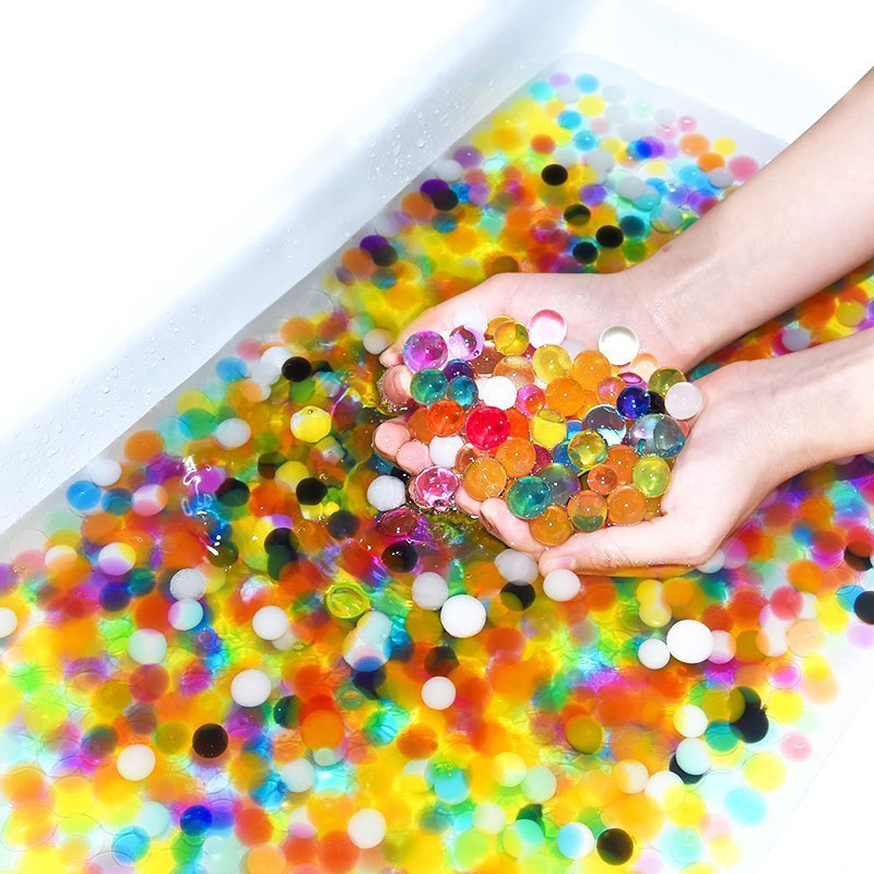 20000 Pcs/box Water Gun Bullet Seven Multi Colors Soft Crystal Water Paintball Bullet Grow Water Beads Balls Water Toy #4