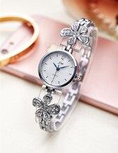 Top Luxury Brand reloj de Cuarzo Reloj de Pulsera Relojes de Las Mujeres de Plata Para Las Mujeres Rhinestone Relojes de pulsera de Acero Inoxidable reloj femenina AC159