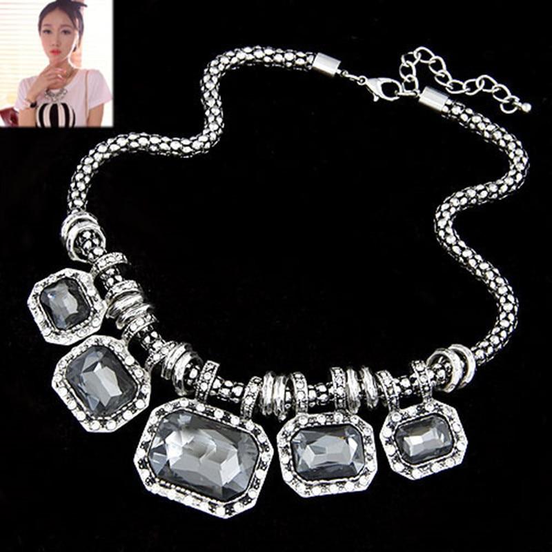 Fashion Glass Necklaces & pendants Rhines