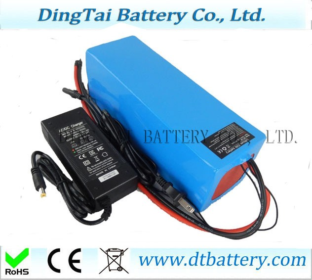 Free customs taxes shipping High quality DIY 48 volt li-ion battery pack with charger and BMS for 48v 15ah lithium battery pack free shipping 50a discharge rate lithium battery 48v 50ah 18650 rechargeable li ion battery pack with 2000w bms and charger