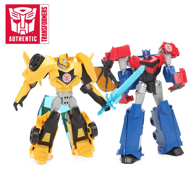 Transformers Robots Toy  12cm Optimus Prime Bumblebee Toy in Disguise Warrior Class PVC Action Figures Collection Model Toy игрушка hasbro transformers robots in disguise mini con deployers deception fracture