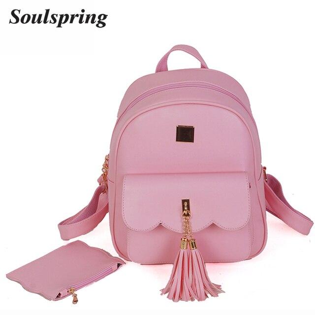 Fashion Tassel Women Backpack Beading Backpacks For Girls School ...