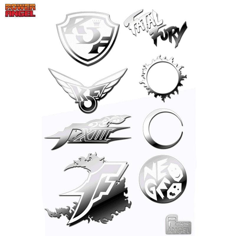 8 pçs/set KOF The King of Fighters Anime Adesivos para Telefone Laptop Decal Adesivo Brinquedo DIY Decorativo