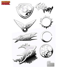 цена на 8pcs/set KOF The King of Fighters Anime Stickers for Phone Laptop DIY Decorative Decal Sticker Toy