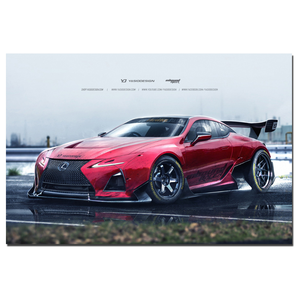 Lexus LC500 Super Sport Car Poster Canvas Cloth Fabric Print For Home Decor  Wall Art Poster In Painting U0026 Calligraphy From Home U0026 Garden On  Aliexpress.com ...