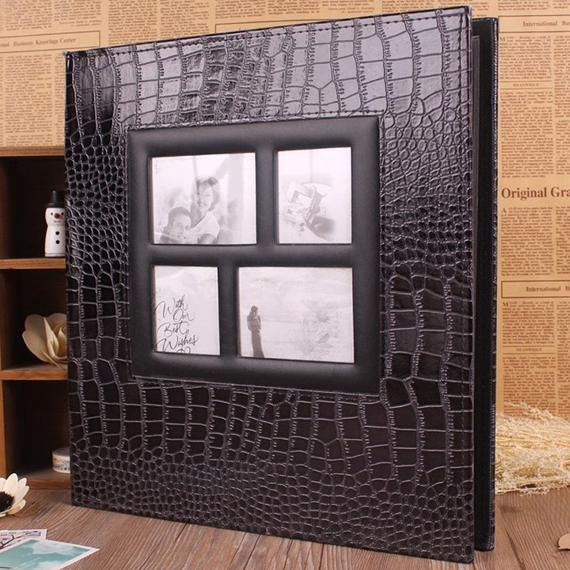 Extra Large Leather Photo Album Polaroid Personalized Scrapbook Wedding Guest Book In Albums From Home Garden On Aliexpress