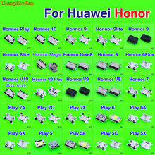 Micro usb jack charging socket for Huawei Honor 7 8 10 V10 V9 9i 8 9 Lite 6 plus magic note8 Play 5 6 6A 6X 5C 5A 5X 7A 7C 7X(China)