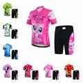 2019 комплект из Джерси для велоспорта, Детский комплект из джерси и шортов для горного велосипеда, топы для горного велосипеда для девочек и ...