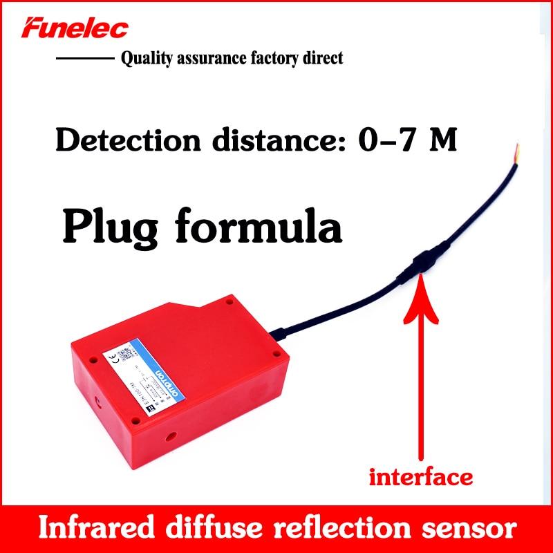 Car Washing Machine 10 Meters Long Distance Adjustable Diffuse Photoelectric Switch E3K100-7M Sensor 24V220V