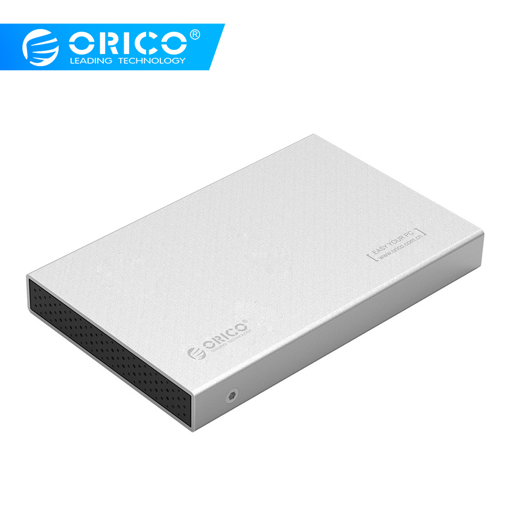 ORICO 2518C3 2.5 Inch Aluminum Type-C External Hard Drive Enclosure USB3.1 Gen1 5Gbps Support 7mm & 9.5mm- Silver