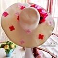 Summer Women's Foldable flower Wide Large Brim Beach Sun Hat Parent-child Straw hat Beach Cap For Ladies Elegant Hats Girls