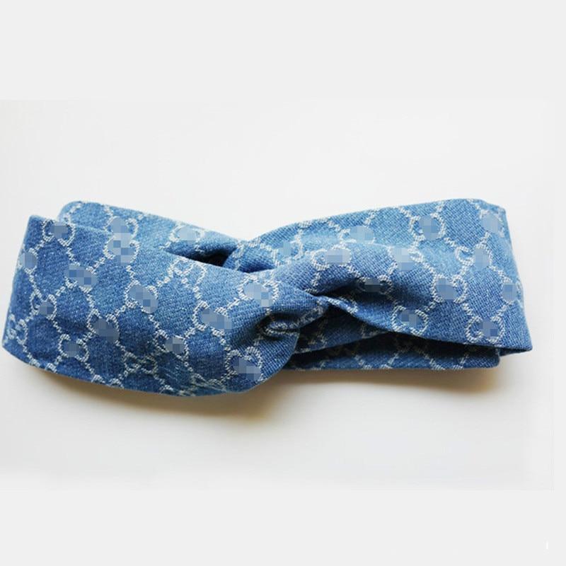 Bohemian Headwrap Boho Elastisk tjej Huvudband Blue Stretch Headband - Kläder tillbehör - Foto 2