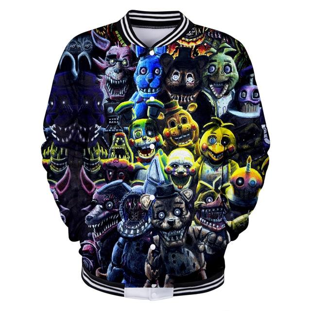 e2b408f5f41 BTS 3D Five Nights at Freddy Kawaii Long Sleeve Baseball Jacket Men Clothes  2018 Hip Hop Kpop Harajuku Plus Size Q1910-Q1919