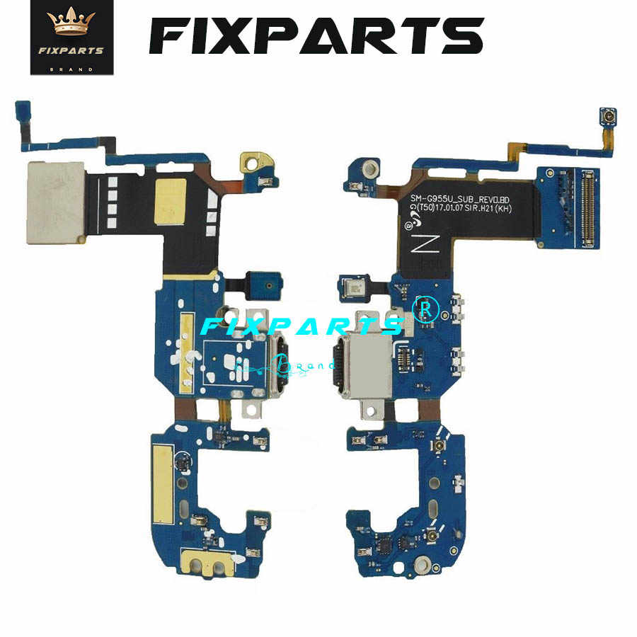 Original For Samsung Galaxy S8 plus G955U USB Charging Port Flex Cable Charger Plug Connector S8 Plus G955F Dock Port Flex Board