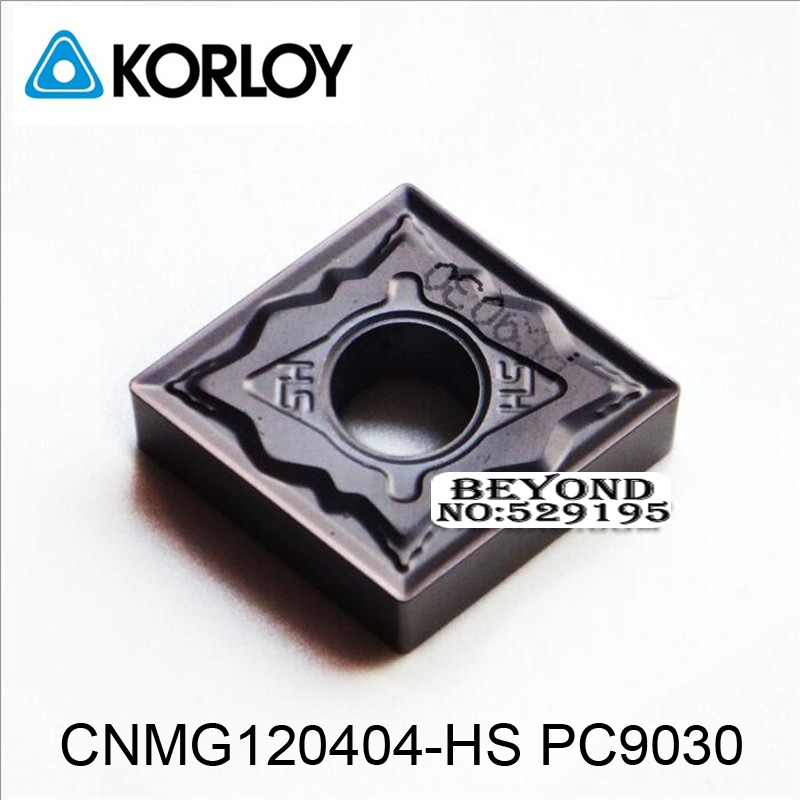 Original Korloy CNMG120404-HS PC9030 CNMG120404 <font><b>CNMG</b></font> <font><b>120404</b></font> Carbide Inserts for Stainless Steel 10pcs Lathe Cutter Tools CNC image