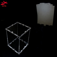 DIY 3D 4S Mini LED Light Cubeeds Acrylic Case Note Box Only With The Use Of