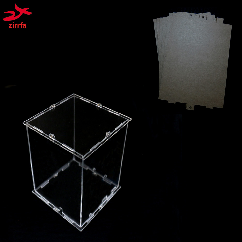 DIY 3D 4S Mini LED Light Cubeeds Acrylic  Case- Note: Box  Only With The Use Of Our 3d4 ,size Is 8x9x H12 Cm