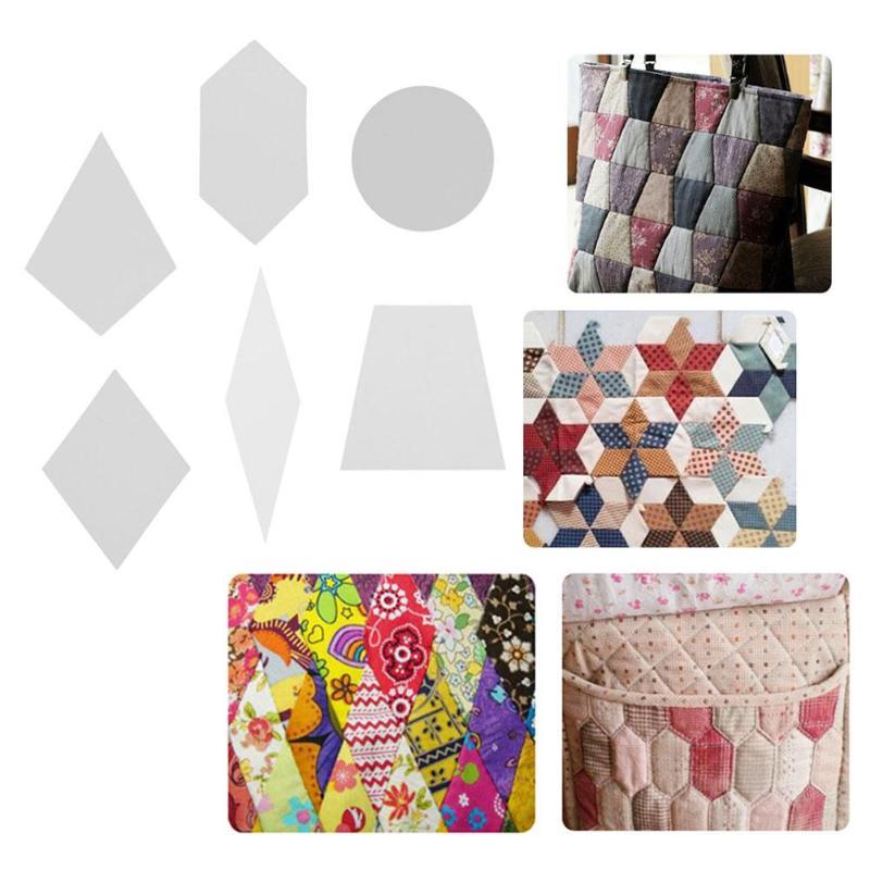100 шт. бумажные шаблоны для квилтинга, шестигранная ромбовидная бумага, шаблон для шитья, форма для рукоделия, шитья, лоскутного шитья, одежд...