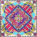 100% Silk  Women's printing Scarves 110x110cm 2017 Spring Woman Scarf  Luxury Brand Shawls SC