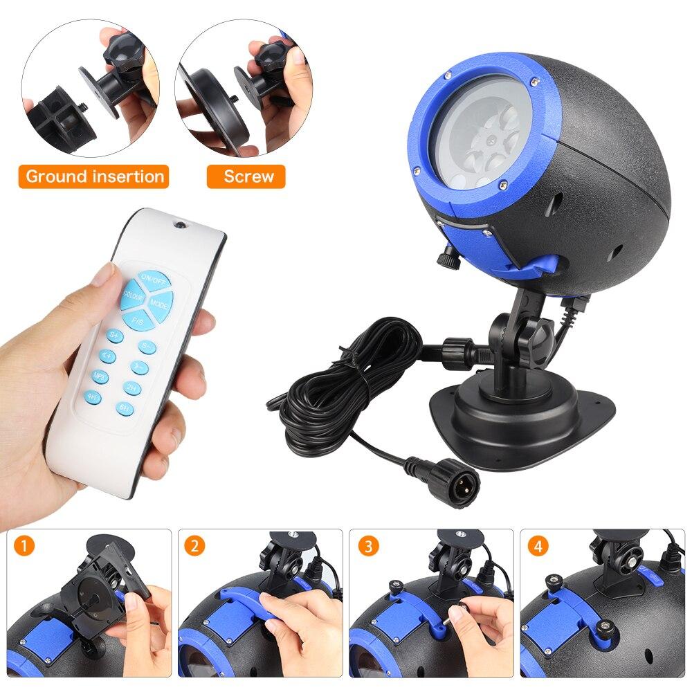 Dj LED Effect Wa Control lamp Speaker Light Stage Light Remote LED Lawn Dmx Laser Disco Mini Player IP65 Music with Laser @