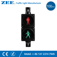 4 Inches 100mm LED Traffic Light Pedestrian Traffic Signal Light Red Green Man Signals Pedestrians Light