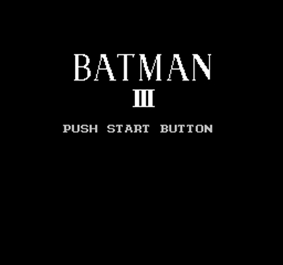 BATMAN 3 60 Pin Game Card For 8 Bit Subor Game Player image
