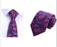 2017 new high quality business black 8cm striped tie groom wedding gift box men's tie suit