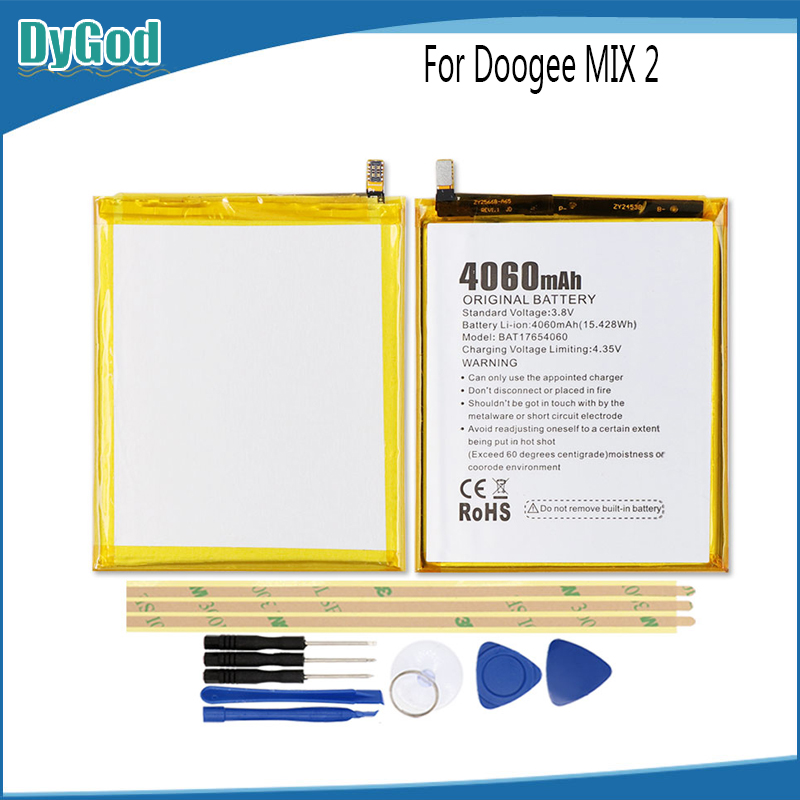 Mobile Phone Parts Mobile Phone Batteries Wonkegonke 4600mah For Doogee Mix2 Mix 2 Battery High Quality With Tracking Number