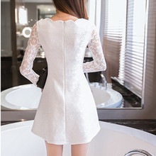 Korean Party Lace Mini Dress