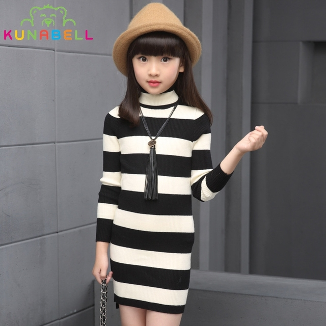 Kids Long Sweaters For Girls Children Clothing Spring Knitted Sweaters Toddler Girls Tops Skinny Knitwear Girls Clothes H018