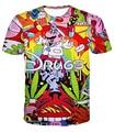 Summer style Super Mario 3D t shirt funny drugs t-shirt cartoon graphic full printing fashion tee short sleeve plus size M-XXL