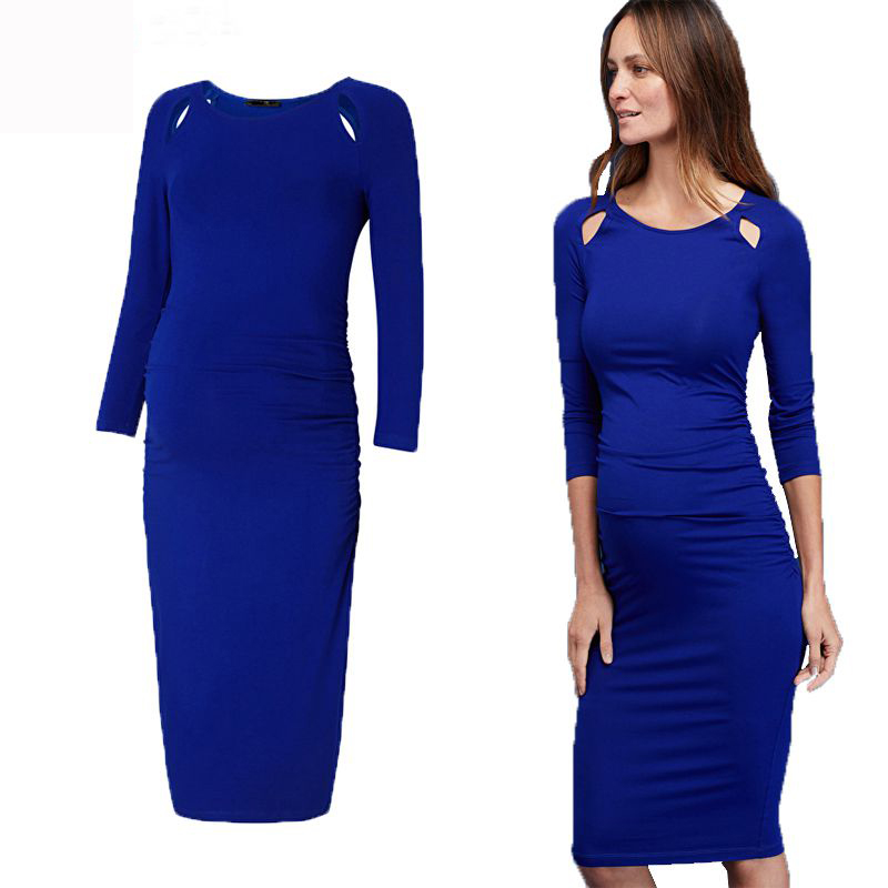 Mother's Day Maternity Clothes Solid Dresses Elegant Evening Dress for Pregnancy Long Evening Gown Dress Pregnancy Wear Clothing