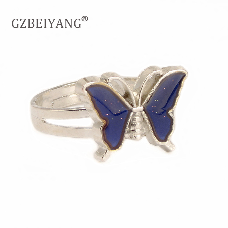 Change-Ring Temperature-Color Butterfly Engagement Party Fashion GZBEIYANG for Couples