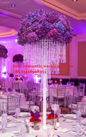 10PCS/lots 4 tiers acrylic wedding centerpiece/90cm tall Chandelier centerpiece/pure crystal finished wedding candelabras