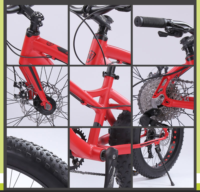 HTB1k7zZe9SD3KVjSZFKq6z10VXaF wolf's fang Bicycle Mountain Bike Road Fat bike bikes Speed 26 inch 8 speed bicycles Man Aluminum alloy frame Free shipping