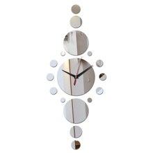 top fashion wall clock modern home decoration diy acrylic mirror Quartz wall clocks sofa background living room wall stickers