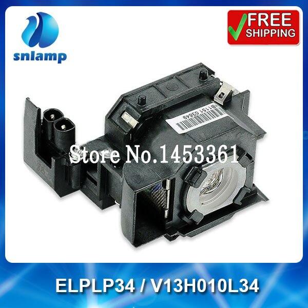 Compatible projector lamp ELPLP34 / V13H010L34 for PowerLite 62c 76c 82c EMP-62 EMP-62C EMP-63 EMP-76C EMP-82 EMP 82C EMP-X3