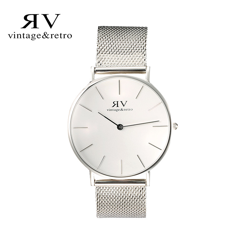 ФОТО VR vintage&retro stainless steel quartz male watches large dial table ladies lovers chain waterproof