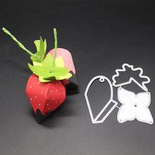 ZhuoAng Paper strawberry design Metal cutting mold scrapbook album embossing DIY paper card making decorative mold process zhuoang new design cutting mold diy scrapbook album decoration mold paper embossing process stcd 725